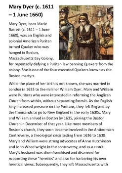 Mary Dyer Handout
