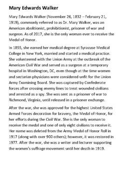 Mary Edwards Walker Handout