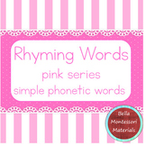 Rhyming Words - Montessori Pink Series