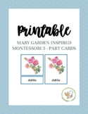 Mary Garden Themed Montessori 3-Part Cards