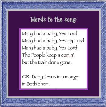 Mary Had A Baby, a song for young children to sing at a Christmas Program