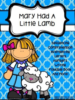 Mary Had A Little Lamb Activity Pack