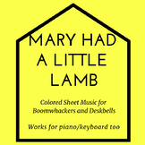 Mary Had A Little Lamb (Colored Sheet Music & Game)