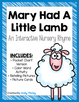 Mary Had A Little Lamb-Interactive Nursery Rhyme