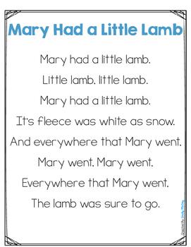 Mary Had A Little Lamb Interactive Nursery Rhyme