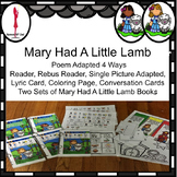 Mary Had A Little Lamb, Interactive book, Social conversation cards about pets