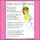 Mary Had A Little Lamb Printable Song Lyrics ~ Music & Poe
