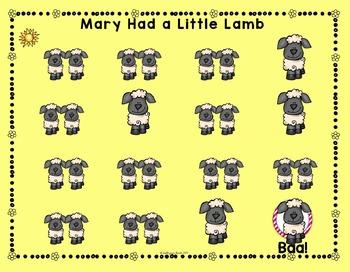 Mary Had a Little Lamb: beat, za ta ti-ti, bar lines, measures, mi re do, BAG