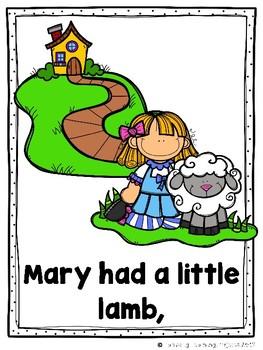 Mary Had a Little Lamb Nursery Rhyme (A Sight Word Emergent Reader)