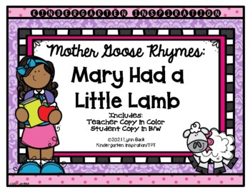 Mother Goose Rhymes: Mary Had a Little Lamb