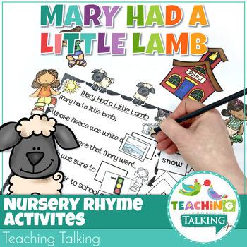 Nursery Rhyme Activities for Mary Had a Little Lamb