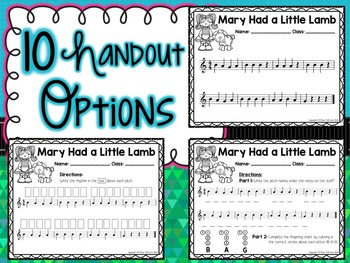 Mary Had a Little Lamb- A Guided Mini-Unit for Recorder BAG