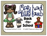 Mary Had a Little Lamb Back-to-School Activities