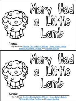 Mary Had a Little Lamb Book, Poster, & MORE- Nursery Rhymes