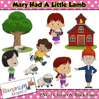 Mary Had a Little Lamb Clip art by RamonaM Graphics | TpT