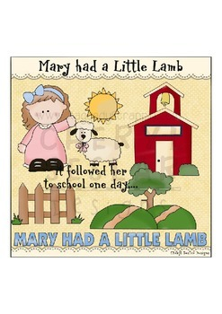 Mary Had a Little Lamb Clipart Collection