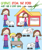 Mary Had a Little Lamb - Clipart for Teachers and Classrooms