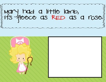 Mary Had a Little Lamb: Color Recognition
