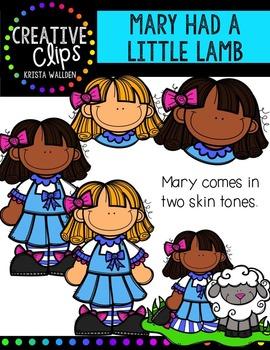 Mary Had a Little Lamb {Creative Clips Digital Clipart}