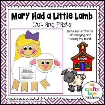 Mary Had a Little Lamb Cut and Paste
