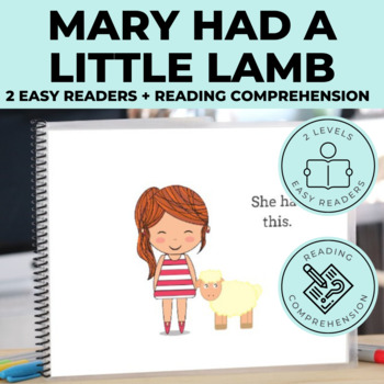 Mary Had a Little Lamb Emergent Reader + Reading Comprehension