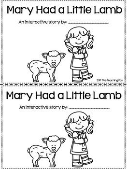 Mary Had a Little Lamb {Interactive Reader}