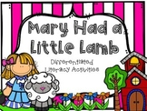 Mary Had a Little Lamb Literacy Activities