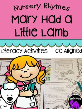 Mary Had a Little Lamb Literacy Activity Pack