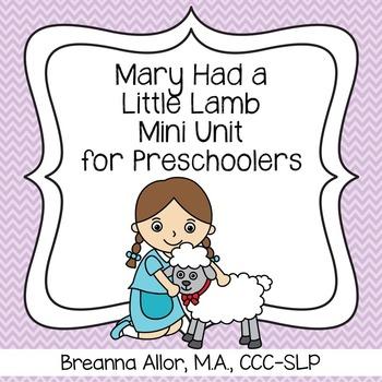Mary Had a Little Lamb Mini Unit for Preschoolers