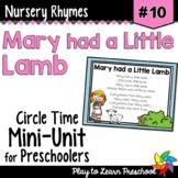 Mary Had a Little Lamb Nursery Rhyme