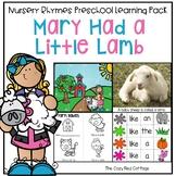 Mary Had a Little Lamb Nursery Rhyme Preschool Theme
