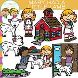 Mary Had a Little Lamb Nursery Rhyme Clip Art