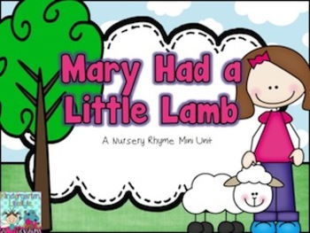 Mary Had A Little Lamb Nursery Rhyme Set