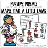 Mary Had a Little Lamb-Nursery Rhymes for Toddlers and Pre