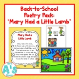 Mary Had a Little Lamb Poetry Pack