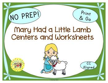 Mary Had A Little Lamb Worksheets Activities Games Printab