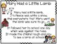 Mary Had a Little Lamb pocket chart build a poem center