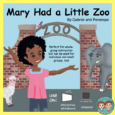 Interactive Book for Speech Therapy:  Zoo Animals