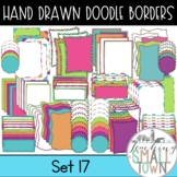 Colorful Hand Drawn Doodle Borders // Personal and Commerc