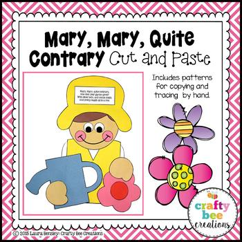 Mary Mary Quite Contrary Cut and Paste
