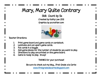 Mary, Mary Quite Contrary Game--Counting by 5s