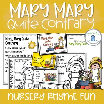 Mary Mary Quite Contrary Literacy Pack