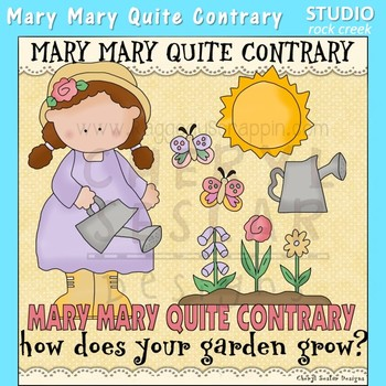 Mary Mary Quite Contrary Nursery Rhyme Clip Art C. Seslar