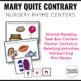 Mary Mary Quite Contrary Nursery Rhyme Literacy Tasks