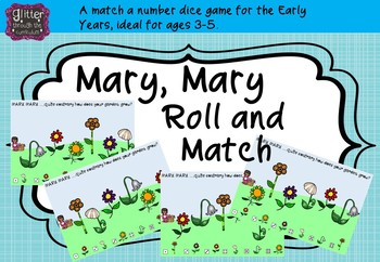 Mary Mary Roll and Match number matching Activity.