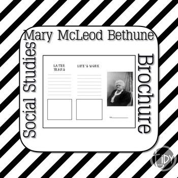 Mary McLeod Bethune Brochure