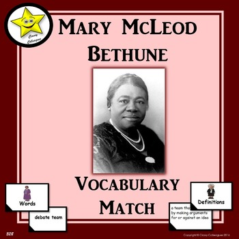 Mary McLeod Bethune Vocabulary Match