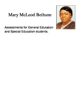 Mary McLeod Bethune Assessment Pack