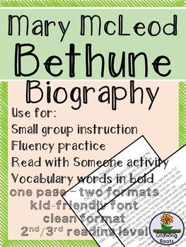 Mary McLeod Bethune Biography