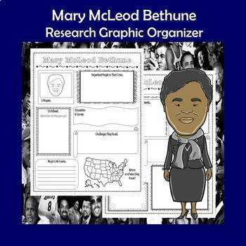 Mary McLeod Bethune Biography Research Graphic Organizer